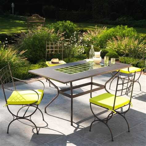 table de jardin intermarche mobilier exterieur fer forge