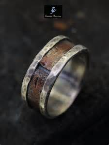 copper mens wedding band rustic ring silver copper ring 39 s by eternitapreziosa