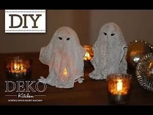 Halloween Dekoration Selber Machen : diy coole halloween gespenster selber machen deko kitchen youtube ~ Markanthonyermac.com Haus und Dekorationen