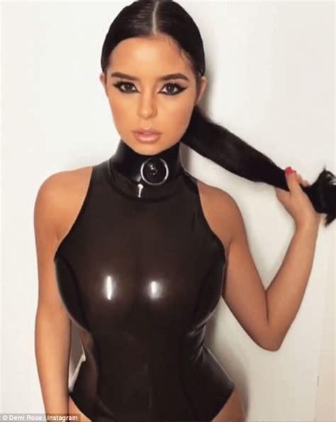 Demi Rose Flaunts Her Hourglass Curves In Latex Leotard