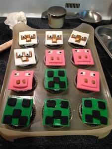Minecraft cupcakes | trakteren | Pinterest | Portal ...