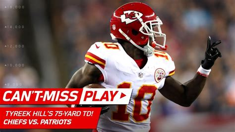 tyreek hills huge  yard td   play nfl