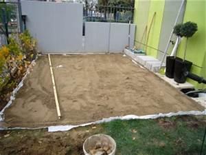 terrasse bois sur sable nos conseils With pose terrasse bois sur sable