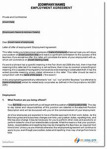 full time employment contract template fair work With full time employment contract template