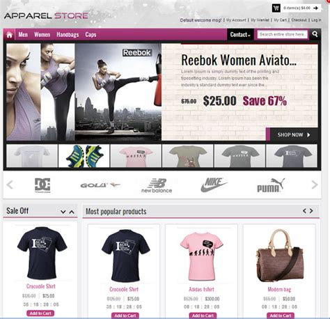 store template start your own ecommerce fashion shop using readymade apparel store template apptha