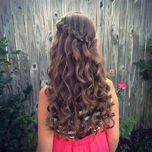 The braid ideas for little girls every mom needs to save: Knotted Waterfall Braid Twist bun