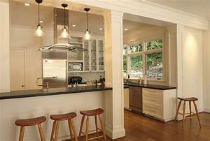 support beams as decorative columns kitchen traditional