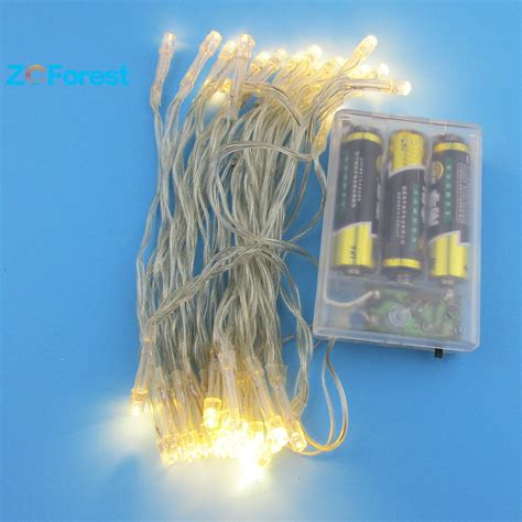 battery outdoor string lights battery operated string led lights 4m 3 colors christmas