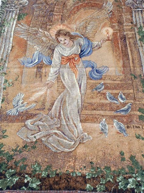 angel  light tapestry throw