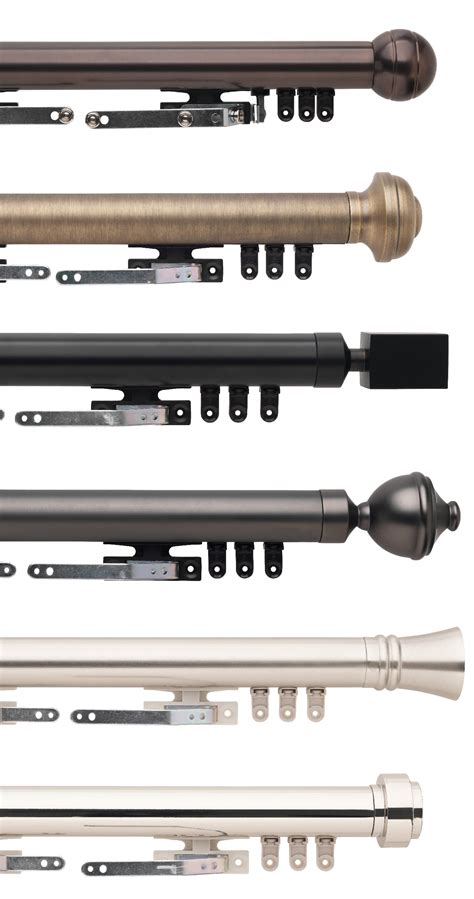 Traverse Drapery Rods by Select Metal Traverse Rod Sets