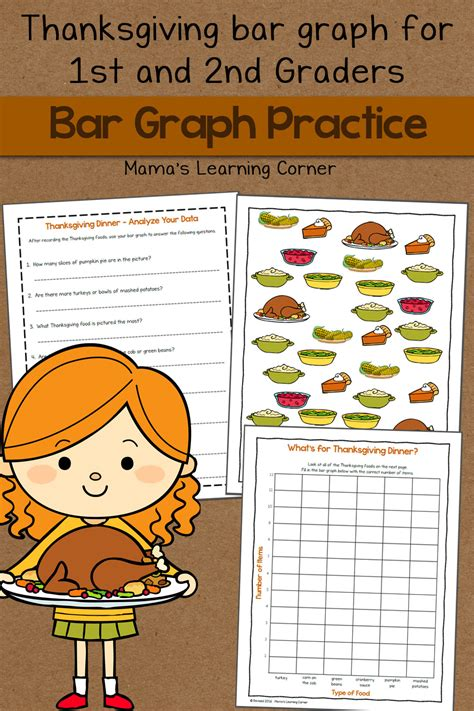 bar graph worksheet thanksgiving mamas learning corner
