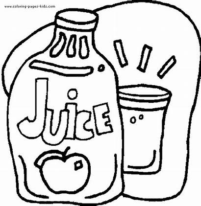 Coloring Juice Pages Drinks Drink Printable Monster