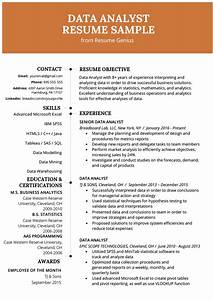 Data Analyst Resume Example  U0026 Writing Guide