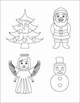 Objects Christmas Coloring Pages Colpages Folders sketch template