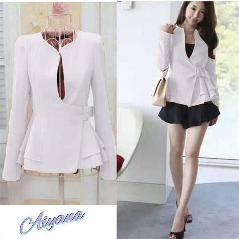 Dwina Cape Dress Baju Murah baju blazer fashion wanita korea cantik modern model