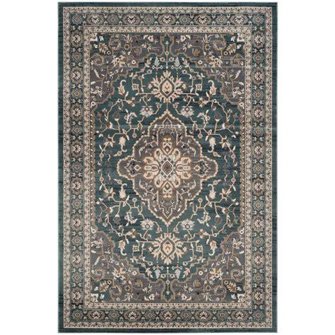 teal area rug 8x10 safavieh lyndhurst teal gray 8 ft x 10 ft area rug