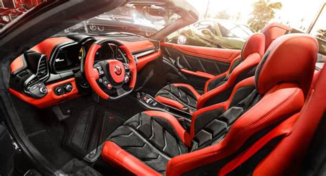 458 Spider Interior by Carlex Design Finishes 458 Spider Project Carscoops