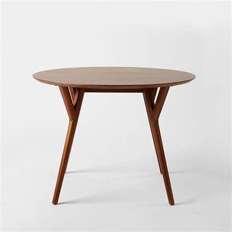 Mid Century Round Dining Table   west elm