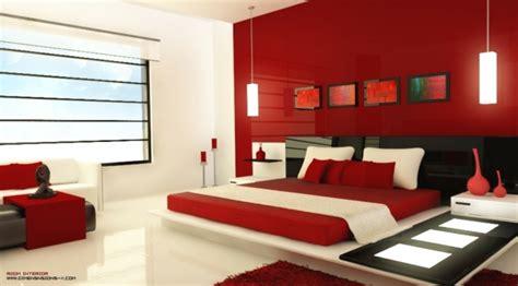 decoration chambre en couleur rouge  idees mangnfiques