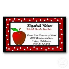 business cards  teachers images business