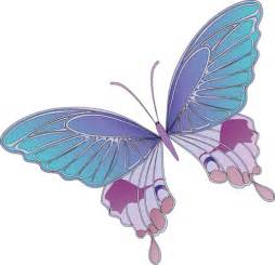 Blue and Purple Butterfly Clip Art