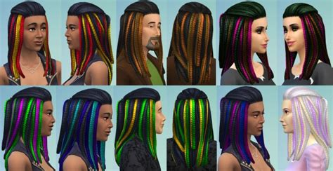 sims  hairs mod  sims vibrant braids  men