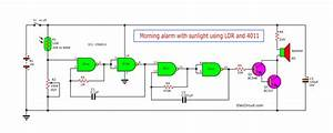 Morning Sun Alarm Circuit Using Ic-4011