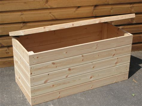 Softwood Shiplap Garden Storage Box Untreated