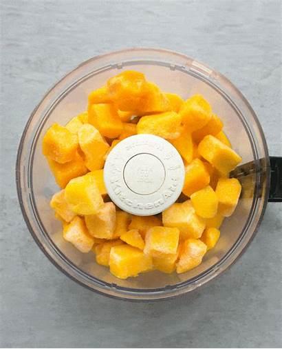 Mango Sorbet Vegan Recipe Min Ready Processor