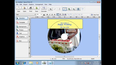 How To Print Cddvd Labels Using Pc (epson Xp900, Xp640, Xp645, Xp630, Xp620) Npd5336 Youtube