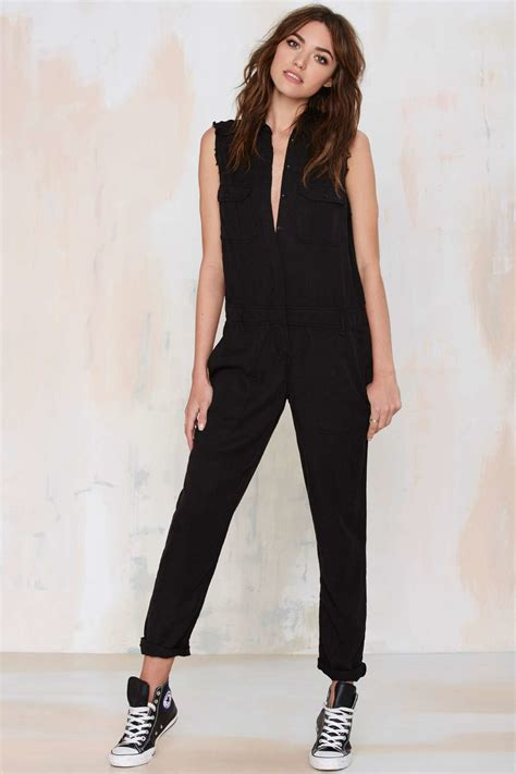 utility jumpsuit etienne marcel cut sleeveless utility jumpsuit in