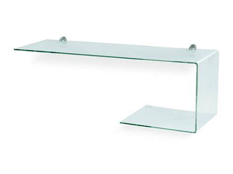mensola di vetro mensola consolle in vetro sagomata flexi