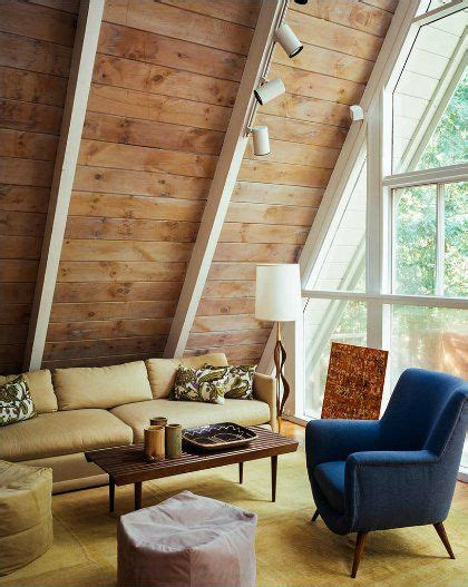 Clean Mid Century Modern A Frame by A Frames Interiors Search Mid Century Cabin In