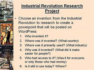 industrial revolution assignments