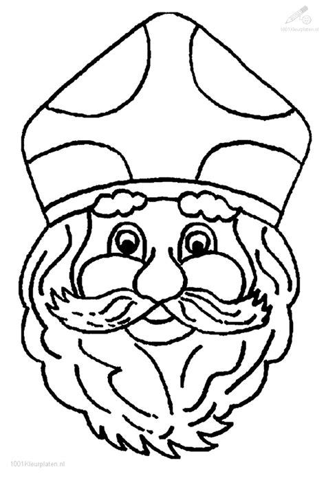 Sint Hoofd Kleurplaat by Het Hoofd Sinterklaas