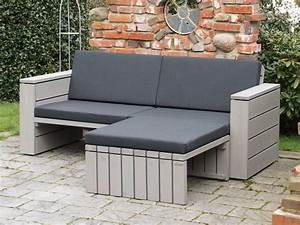 Loungemöbel Holz Outdoor : lounge sofa holz inkl loungepolster in verschiedenen dekoren oberfl che transparent grau ~ Watch28wear.com Haus und Dekorationen