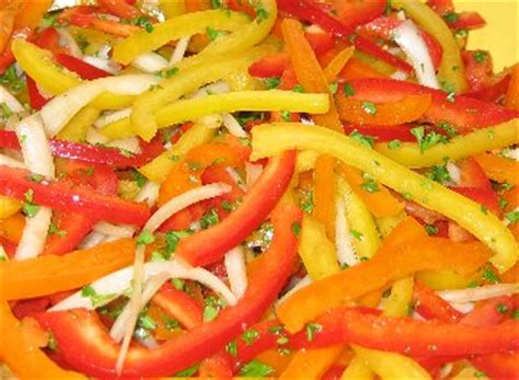 pepper salad recipe whats cooking america