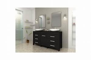 Meuble Salle De Bain Marron : meuble de salle de bain marron fonc en bois achim meuble salle de bain pas cher ~ Melissatoandfro.com Idées de Décoration