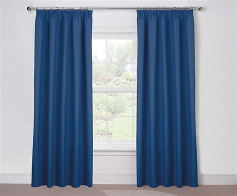 Blue Curtains by Twilight Lined Blue Pencil Pleat Blackout Curtains Harry