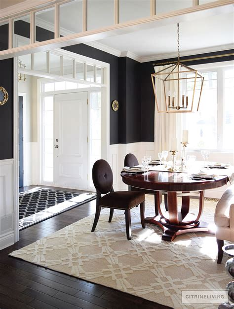Dining Room In Entryway by Citrineliving Neutral Dining Room Updates