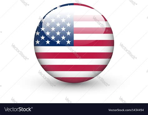 Download american national vector (svg) logo. Round icon with national flag of the USA Vector Image