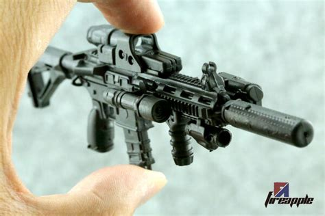 scale weapon model assembly assault rifle gun  black hk   figure ebay