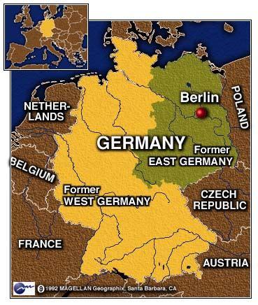 Berliner Mauer Karte Deutschland