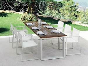 table exterieur contemporain With mobilier de jardin contemporain