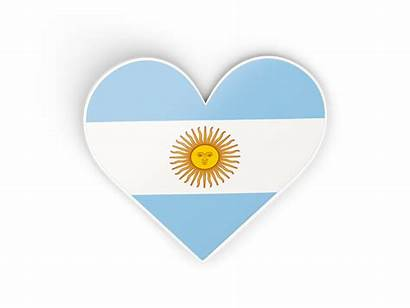 Argentina Sticker Heart Flag Commercial Non
