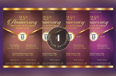 wedding anniversary invitation designs