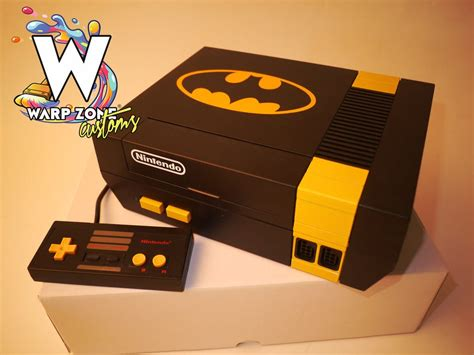 Batman Edition Custom Nes Console New 72 Pin Warp Zone