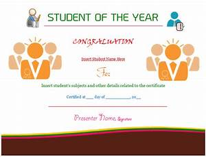 Student of the year certificate template award dotxes for Student of the year certificate template