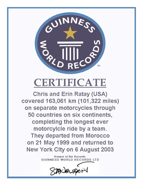 World Record Certificate Template by Guinness World Record Certificate Template Ieha Us