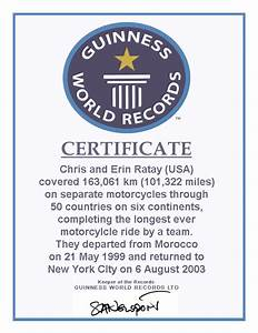 ultimate journeycom breaking a guinness world record With guinness world record certificate template